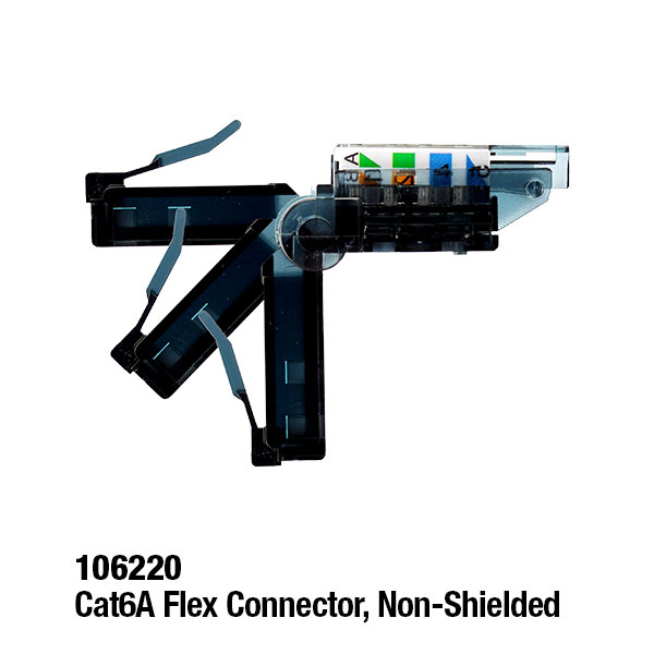 106220 Cat6A Flex Connector, Non-Shielded