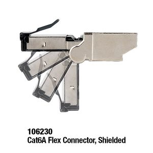 106230 Cat6A Flex Connector, Shielded