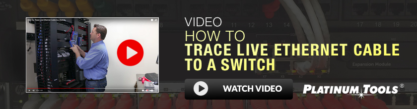 How to trace live ethernet cable to a switch