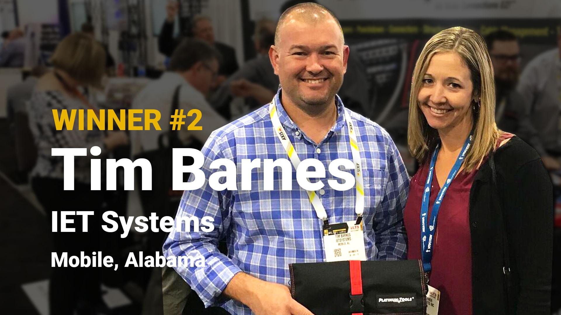 Winner #2 Tim Barnes IET Systems